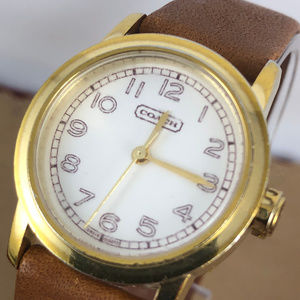 Vintage Coach Swiss made Gold Tone Watch